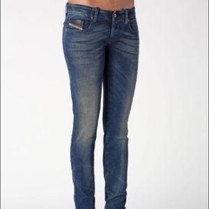 Diesel Grupee wash 0821V low waist skinny jeans